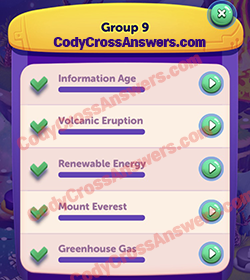 CodyCross Planet Earth Group 9 Answers