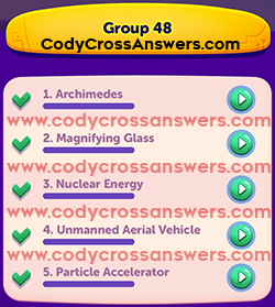 CodyCross Inventions Group 48 Answers