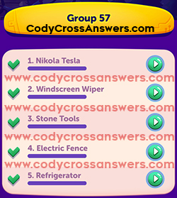 CodyCross Inventions Group 57 Answers