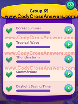 CodyCross Seasons Group 65 Answers
