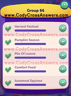 CodyCross Seasons Group 66 Answers