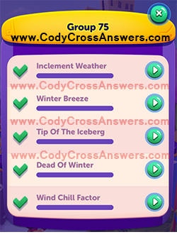 CodyCross Seasons Group 75 Answers