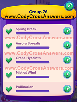 CodyCross Seasons Group 76 Answers